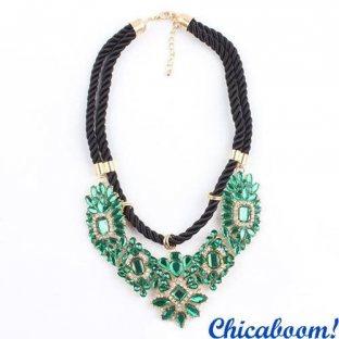 Ожерелье Shourouk зелёного цвета