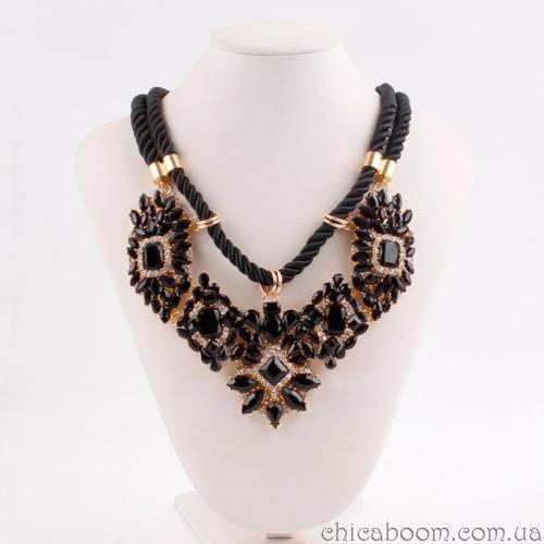 Ожерелье Shourouk чёрного цвета
