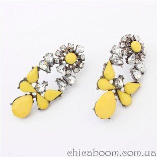 Серьги Shourouk жёлтого цвета
