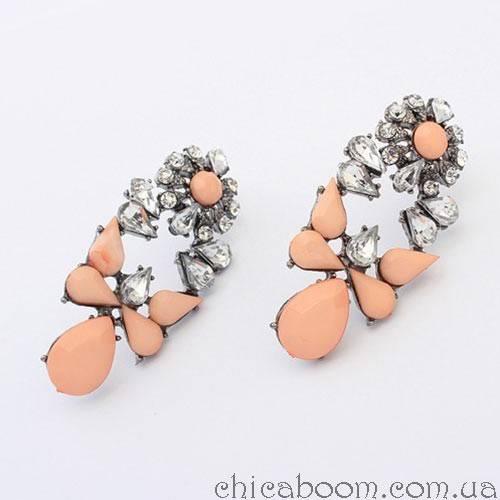 Серьги Shourouk персикового цвета