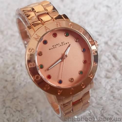 Часы Marc Jacobs с металлическим браслетом (розовое золото)