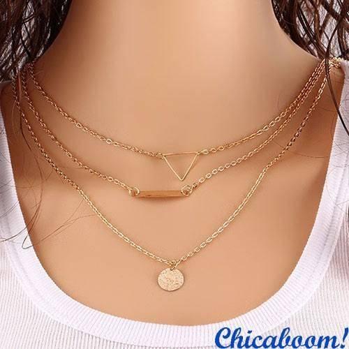 Ожерелье-цепочка Triangle+Ring
