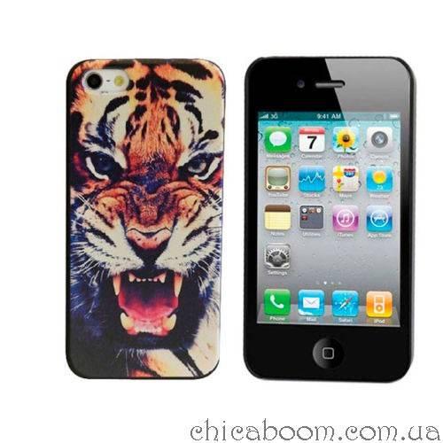 Чехол для iPhone 4 Тигр