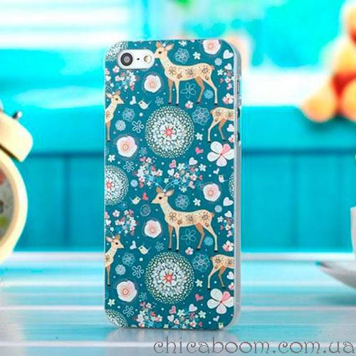Чехол для iPhone 4 с оленями