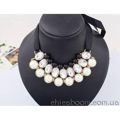 Ожерелье Молочный жемчуг (белый цвет)