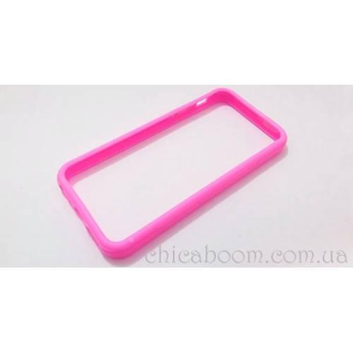 Бампер для iPhone 5 ежевичного цвета (силикон)