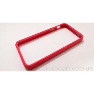 Бампер для iPhone 5 красного цвета (силикон)