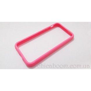 Бампер для iPhone 5 розового цвета (силикон)
