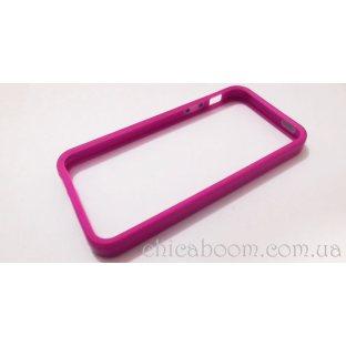 Бампер для iPhone 5 фиолетового цвета (силикон)