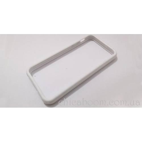 Бампер для iPhone 5 белого цвета (силикон)