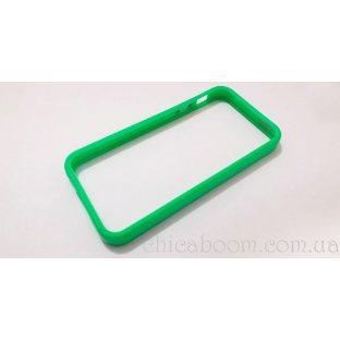 Бампер для iPhone 5 зелёного цвета (силикон)