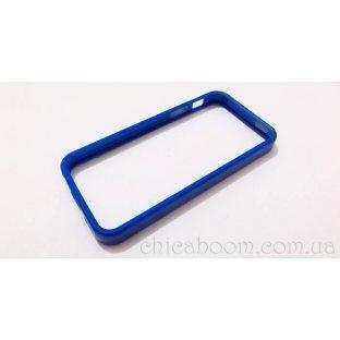Бампер для iPhone 5 синего цвета (силикон)