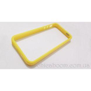 Бампер для iPhone 5 жёлтого цвета (силикон)