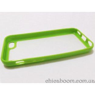 Силиконовый чехол для iPhone 5/5S зелёного цвета