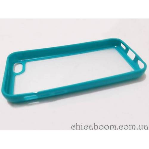 Силиконовый чехол для iPhone 5/5S бирюзового цвета