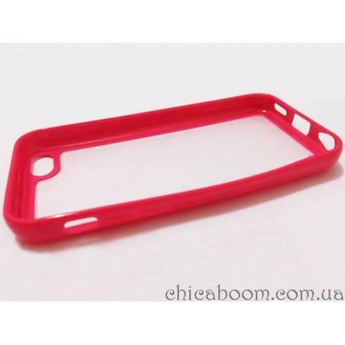 Силиконовый чехол для iPhone 5/5S красного цвета