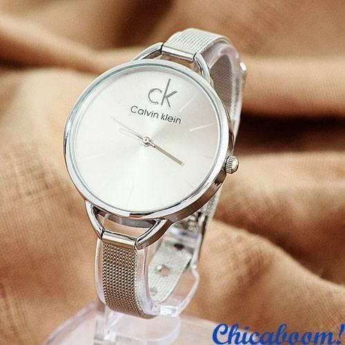 Часы Calvin Klein с металлическим браслетом (серебристый циферблат)