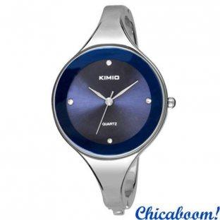 Часы Kimio с металлическим браслетом (синий циферблат)