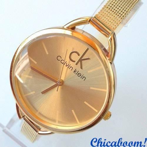 Часы Calvin Klein с металлическим браслетом золотого цвета