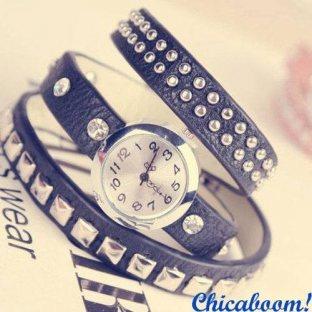 Винтажные часы с длинным ремешком (punk style). Часы браслет.