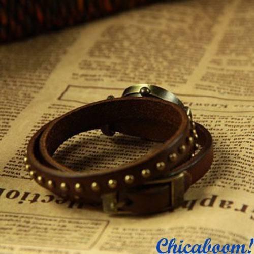 Винтажные часы JQ с длинным ремешком коричневого цвета. Часы браслет