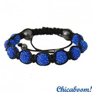 Браслет Шамбала (бусины синего цвета)