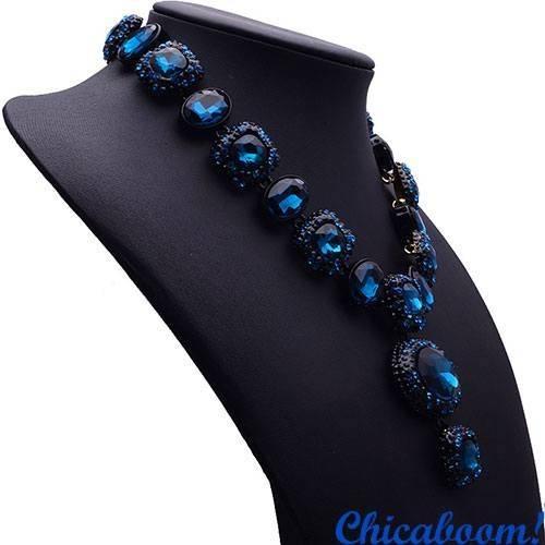 Ожерелье Angie синего цвета