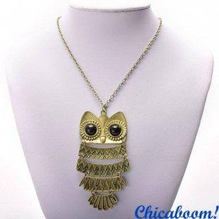Ожерелье-подвеска Сова (бронзовый цвет)