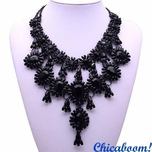 Ожерелье Grace в чёрных тонах