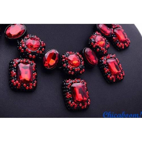 Ожерелье Angie красного цвета №2