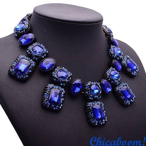 Ожерелье Angie синего цвета №2