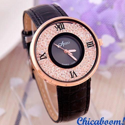 Часы Amni с чёрным ремешком