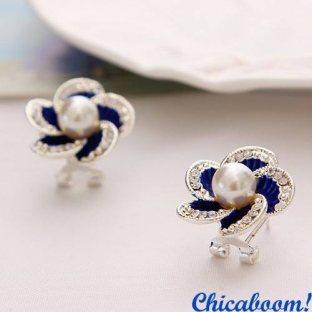 Серьги Ocean Flowers (синие)