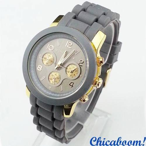 Часы Michael Kors с серым силиконовым ремешком