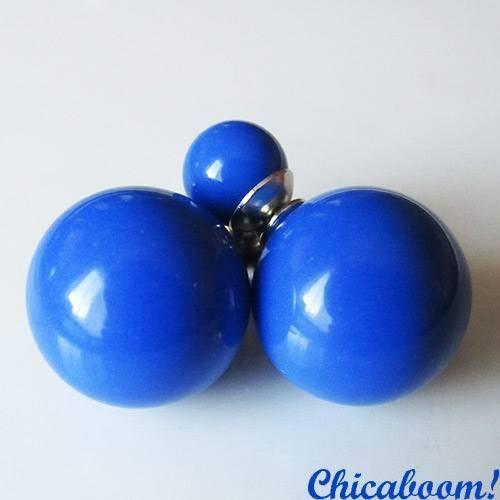 Серьги Жемчужина в стиле Dior синего цвета (глянец)