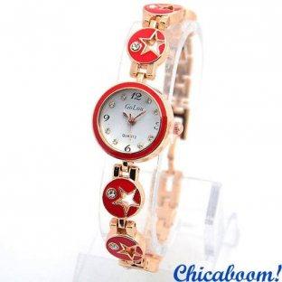 Часы Golou в красном стиле
