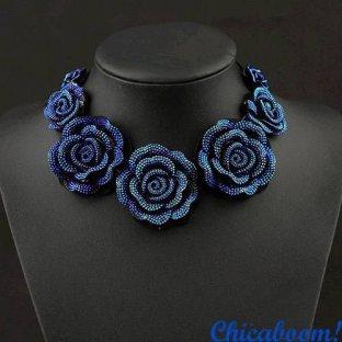 Ожерелье Синие розы