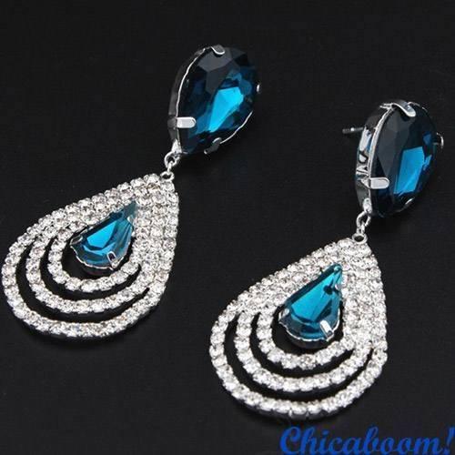 Серьги Mindy (синий цвет)