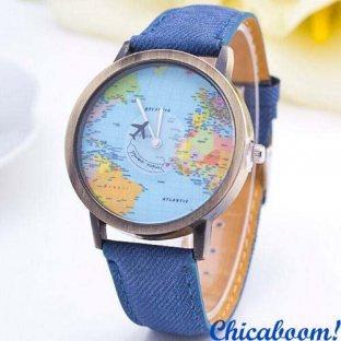 Часы Mini world (синий ремешок)