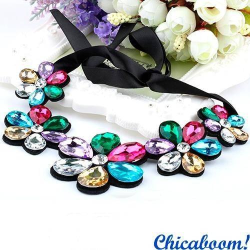 Ожерелье Ледяные цветы (мультиколор)