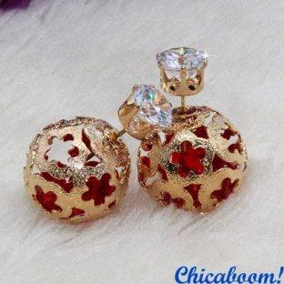 Серьги в стиле Dior золотого цвета (корона)