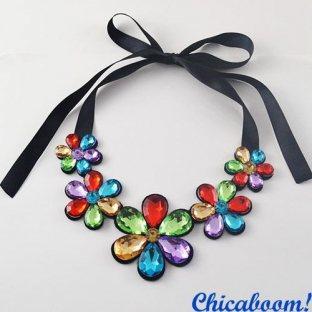 Ожерелье Ледяные цветы (мультиколор №2)