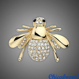 Брошь Пчела (золотистый цвет)