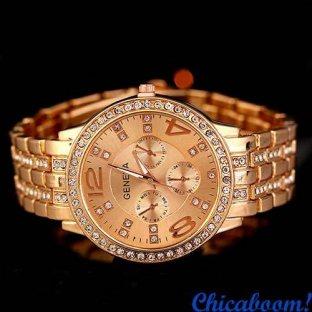 Часы Geneva (цвет розовое золото)