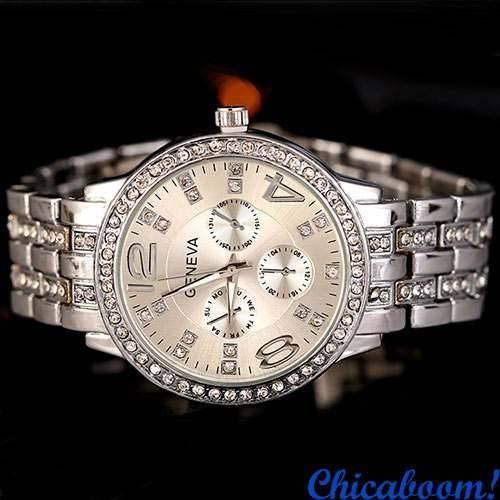 Часы Geneva (серебряный цвет)