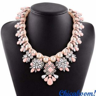 Ожерелье Великолепие в розовых тонах