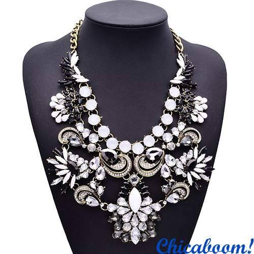 Ожерелье Грация чёрно-белого цвета