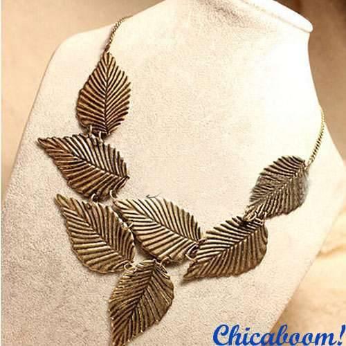 Ожерелье Листья