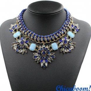 Ожерелье Фантазия (синий цвет)