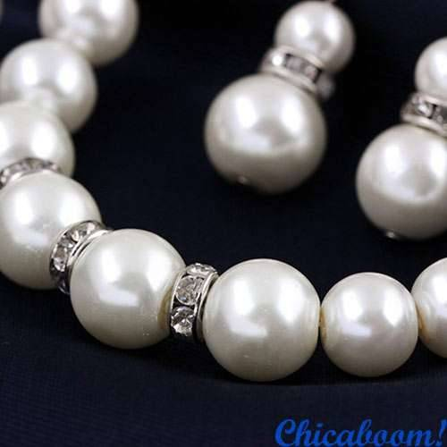 Набор Pearl №1 (колье, браслет, серьги)